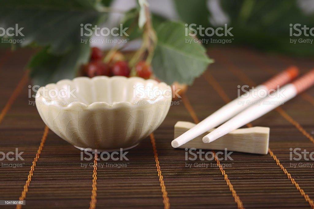Chiny cup i czerwony chopstick zbiór zdjęć royalty-free