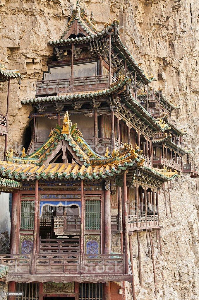 China Datong Hanging Temple stock photo