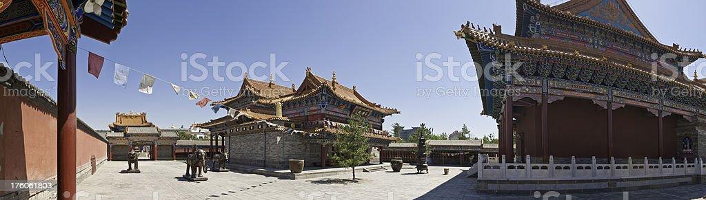 China Dazhao Temple panorama Hohhot Inner Mongolia stock photo