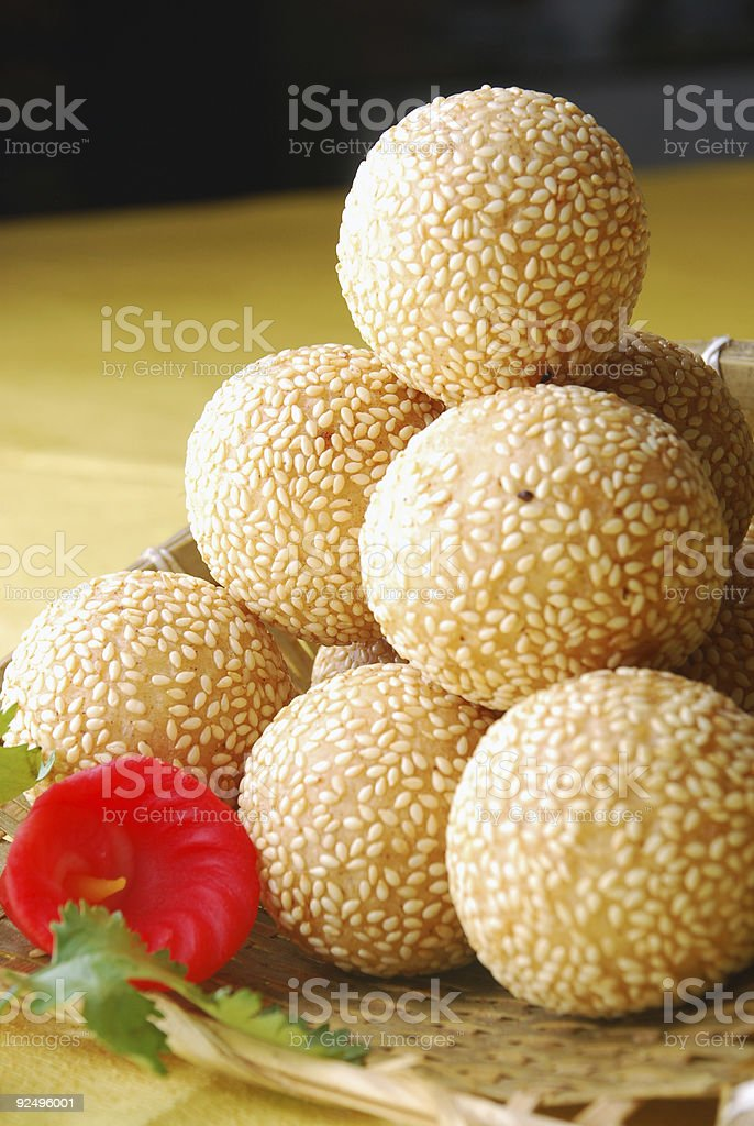 china delicious food--wrap meat and vegetable in glutinous ball royalty-free stock photo