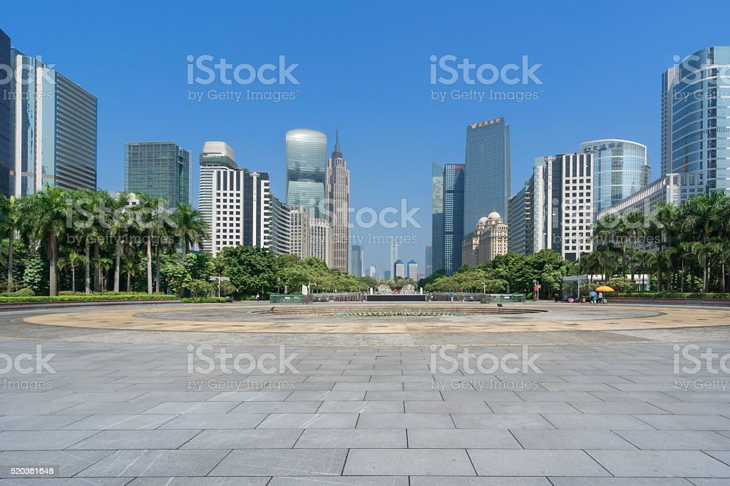 China - East Asia,guangzhou,Downtown District,Town Square, stock photo