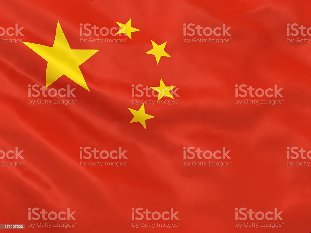 China Flag royalty-free stock photo