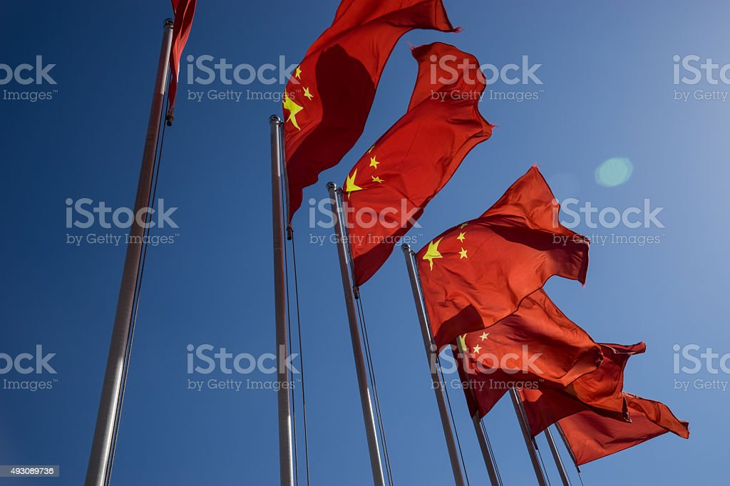 china flag stock photo