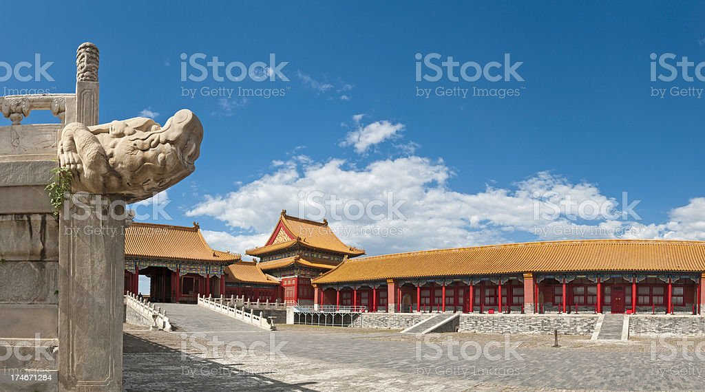 China Forbidden City Beijing summer skies royalty-free stock photo
