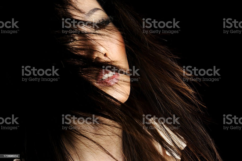 China Girl Tossing Hair royalty-free stock photo