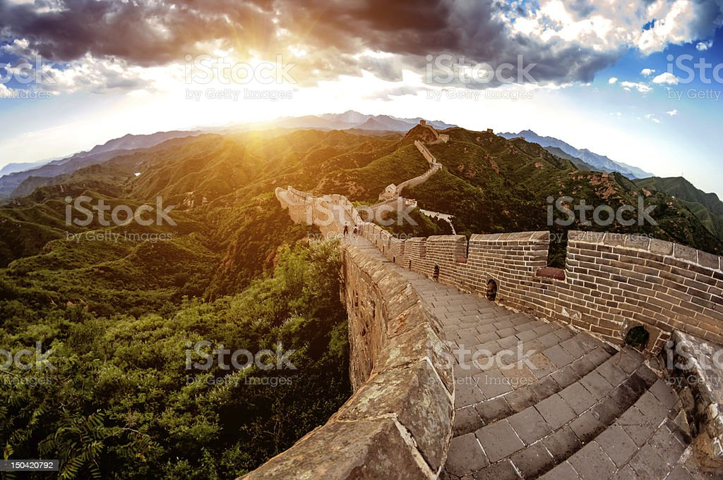 China great wall stock photo