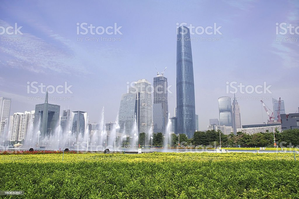 China Guangzhou skyline royalty-free stock photo