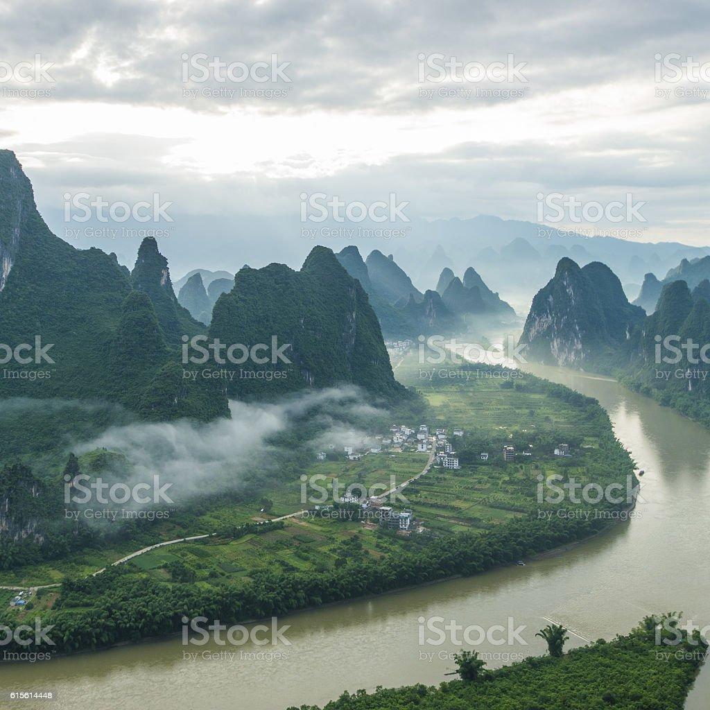 China Guilin Messire mountain scenery stock photo