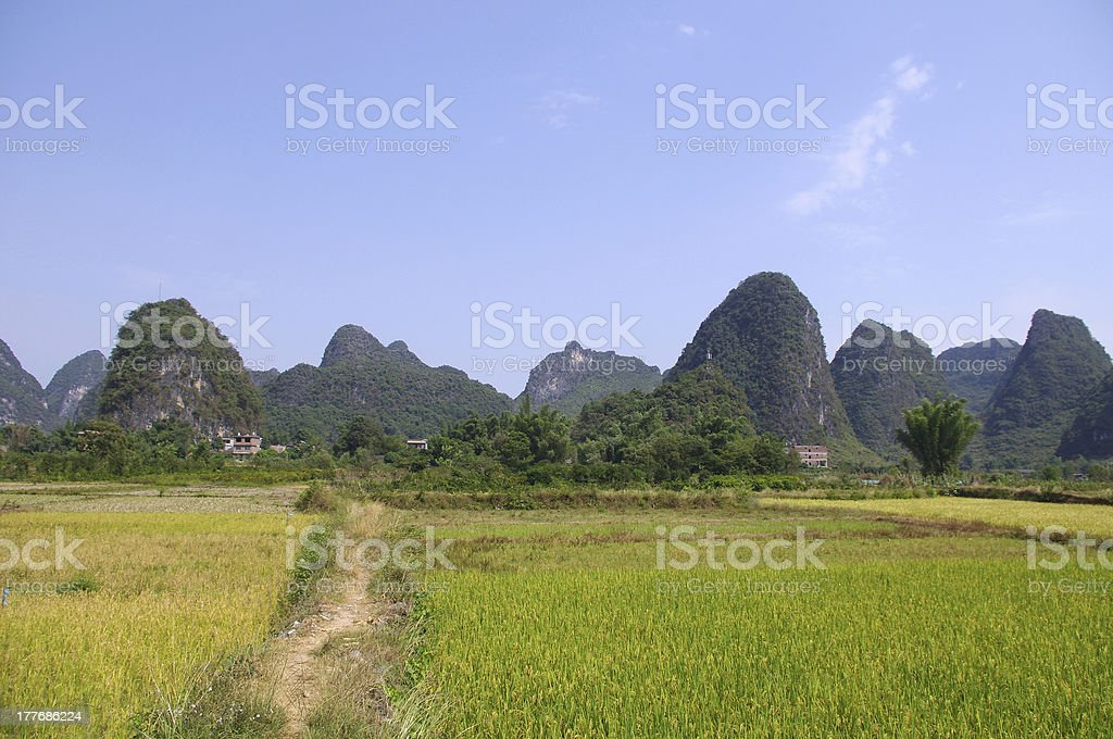 China Guilin Mountains royalty-free stock photo