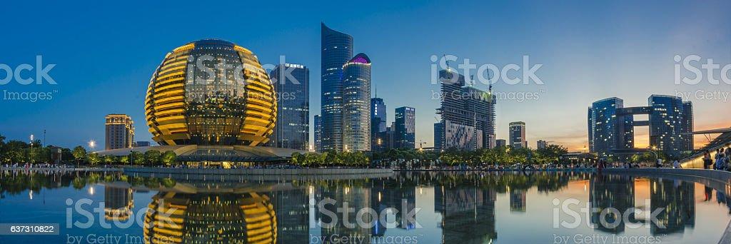 China Hangzhou Qianjiang New City stock photo