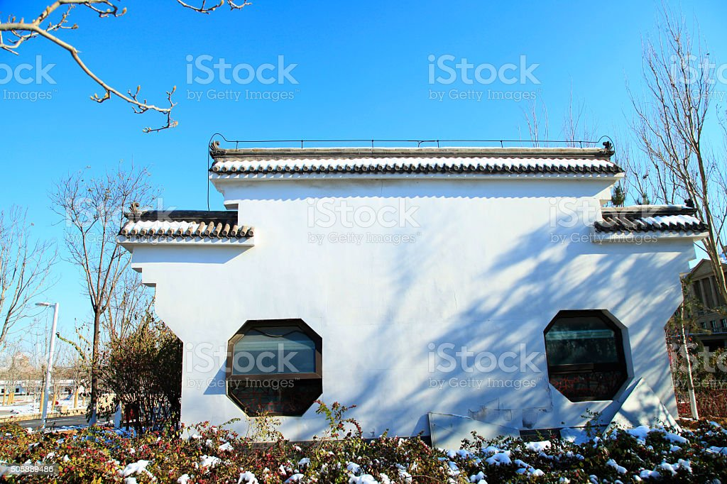China has been gloriously enrolled buildings stock photo