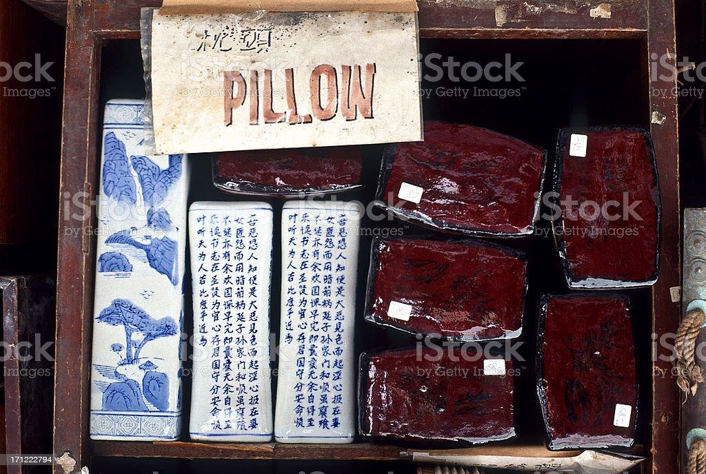 China Hong Kong SAR, traditional ceramic pillow. royalty-free stock photo