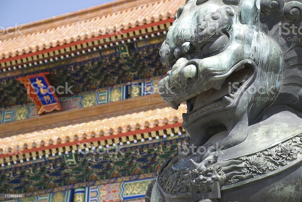 China - Imperial Lion Of The Forbidden City royalty-free stock photo