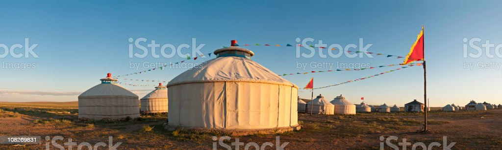 China Inner Mongolia yurts grasslands panorama stock photo