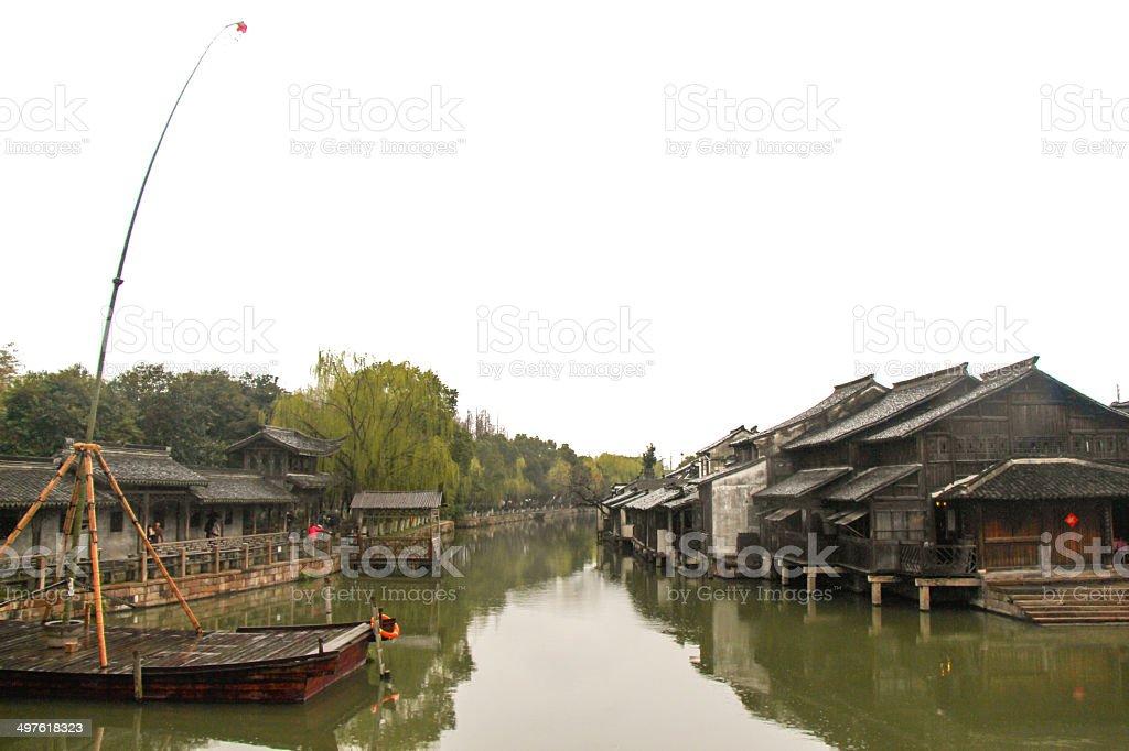 China, Jangsu, the Xizha old village stock photo