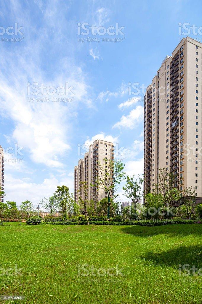China Jiangxi, high-rise residential area stock photo