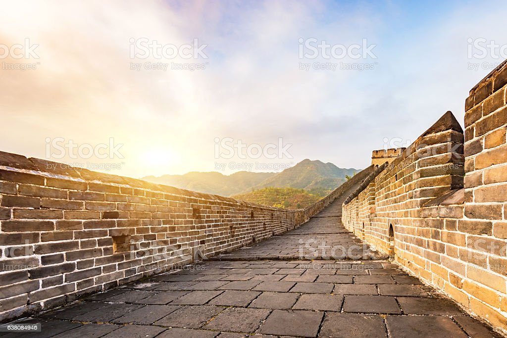 China Jinshanling scenery in the Great Wall. stock photo