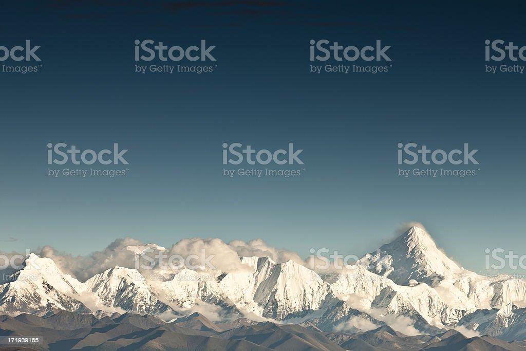 China Kangding, Gongga Snow Mountains stock photo