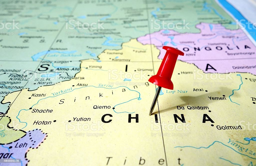 China map stock photo