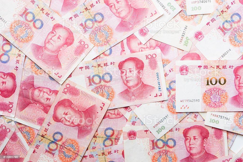 china money 100 bank note background stock photo