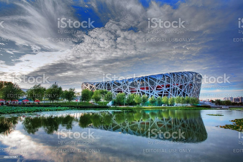 China National Olympic Stadium stock photo