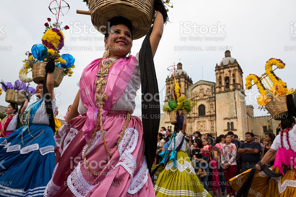 China Oaxaquena, Guelaguetza, Oaxaca. stock photo