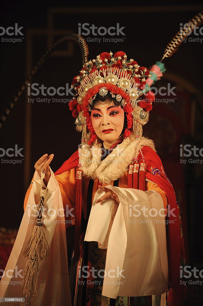 china opera Actress stock photo