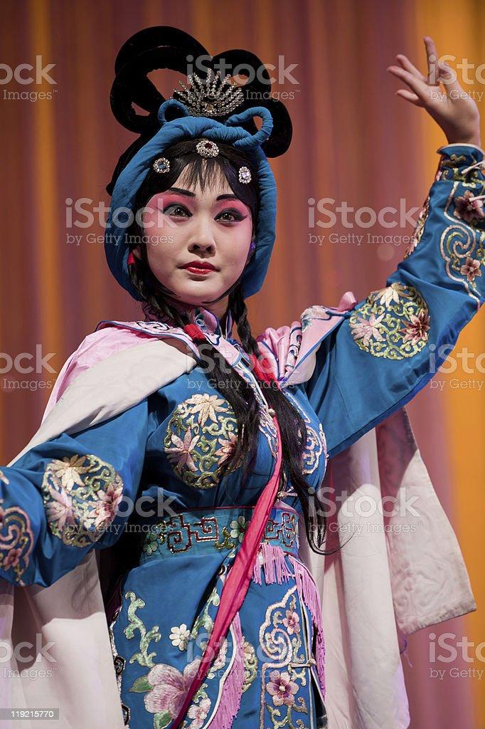 china opera Actress pretty girl stock photo