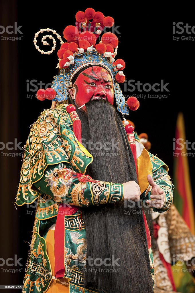 china opera man with red face royalty-free stock photo