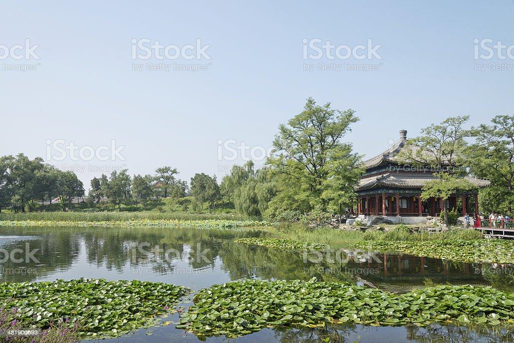 China pavilion in summer palace stock photo