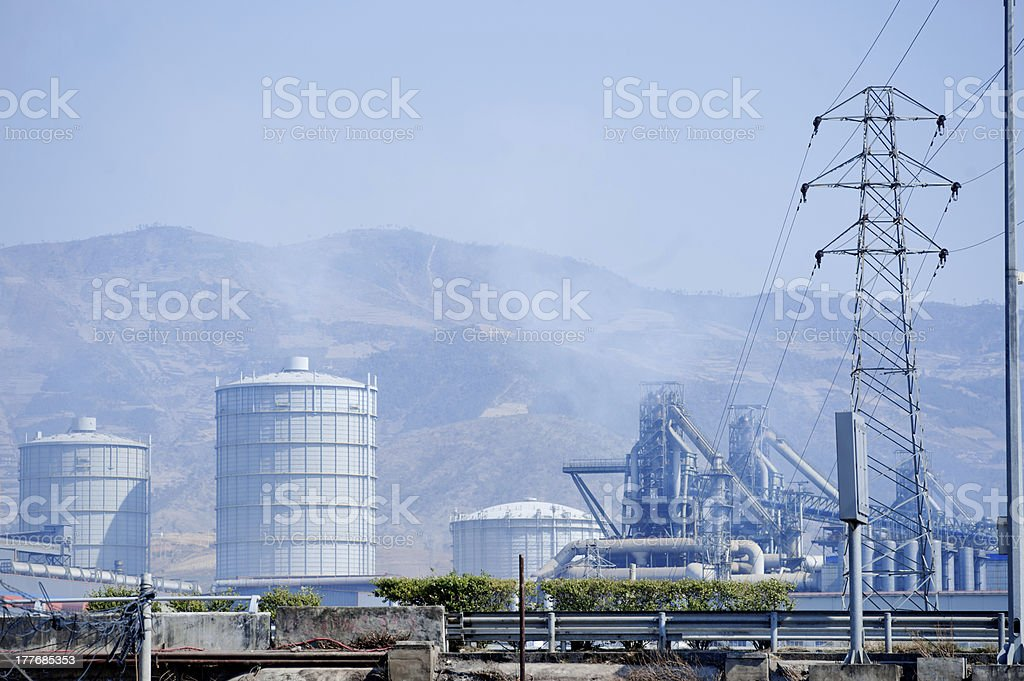 China Petroleum and Chemical Plant royalty-free stock photo