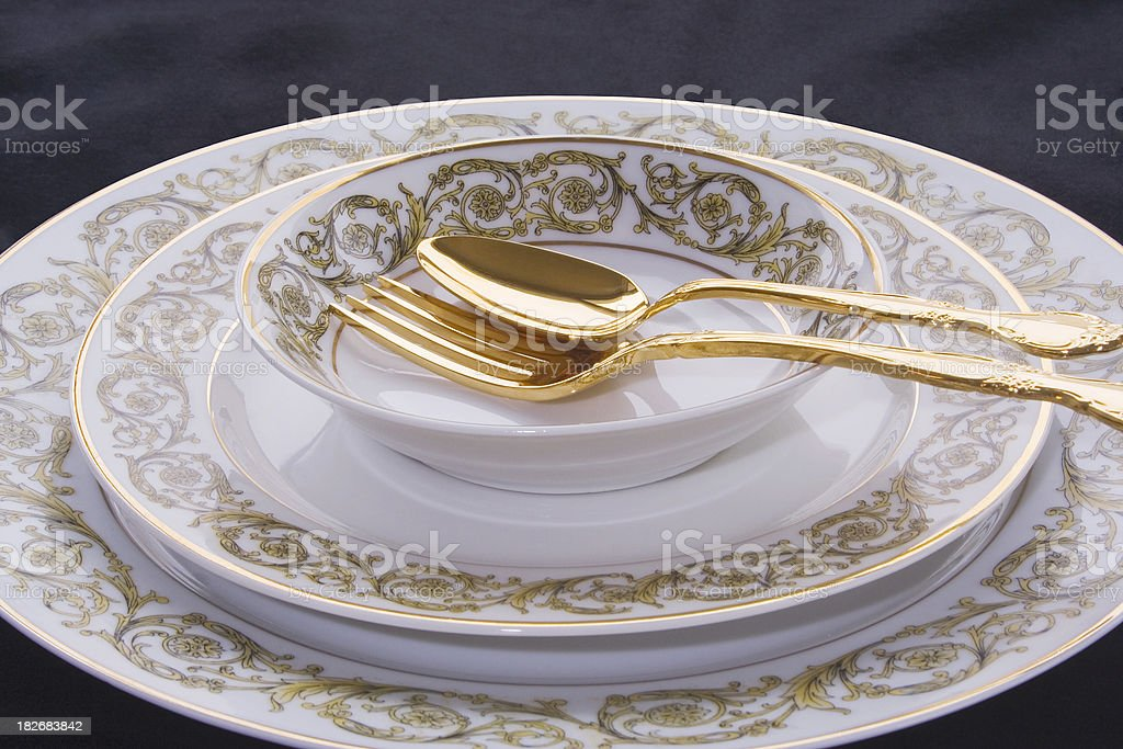 China Place Setting royalty-free stock photo