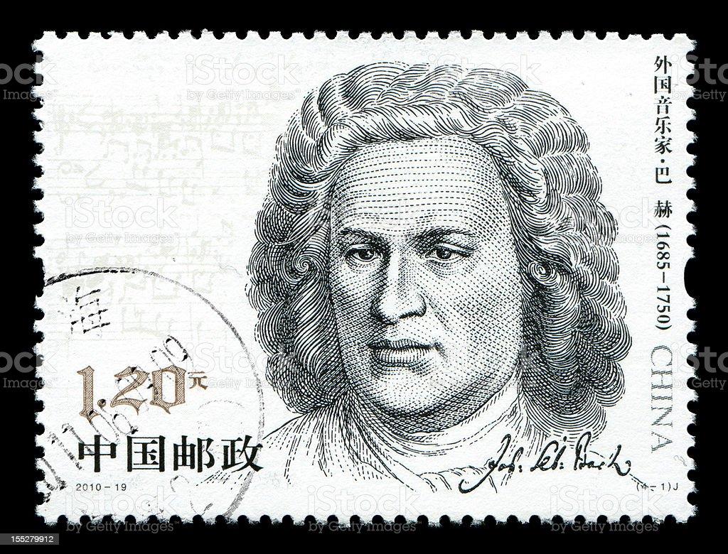 China postage stamp:Johann Sebastian Bach stock photo