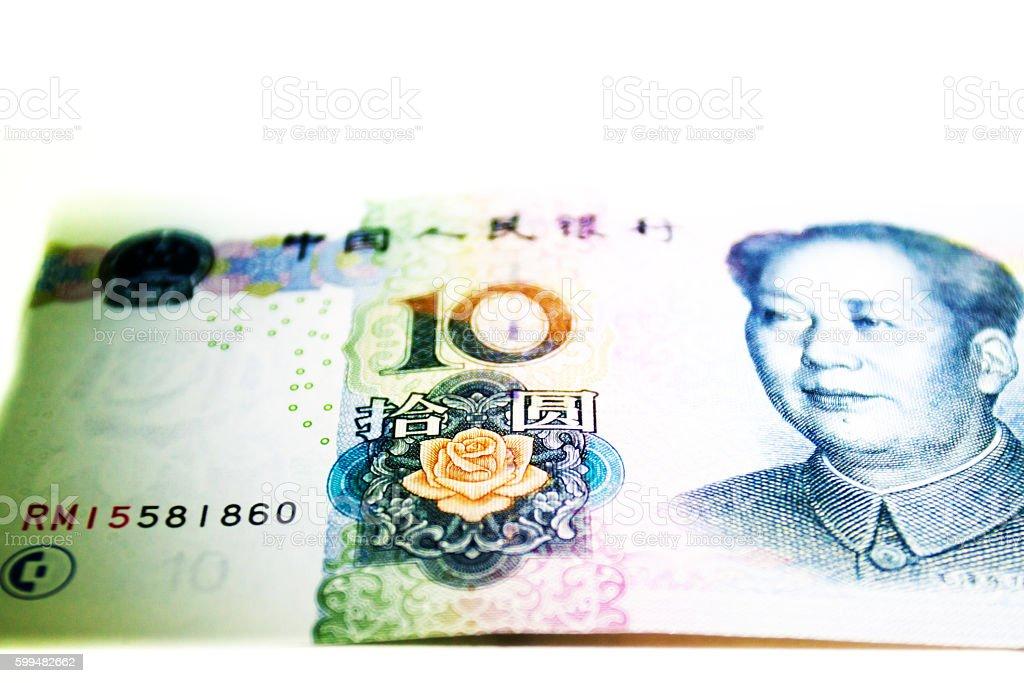 China RMB,YUAN Banknotes stock photo