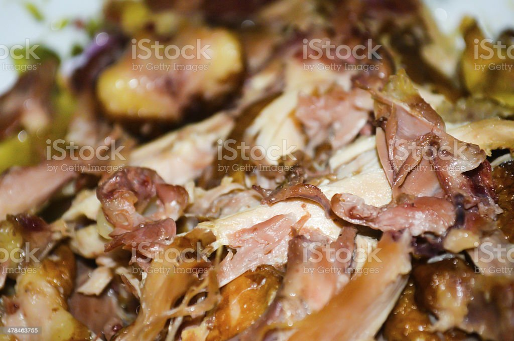 China Shandong specialties: Shredded chicken stock photo