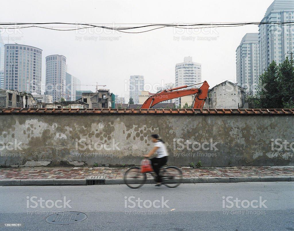 china shanghai bike royalty-free stock photo