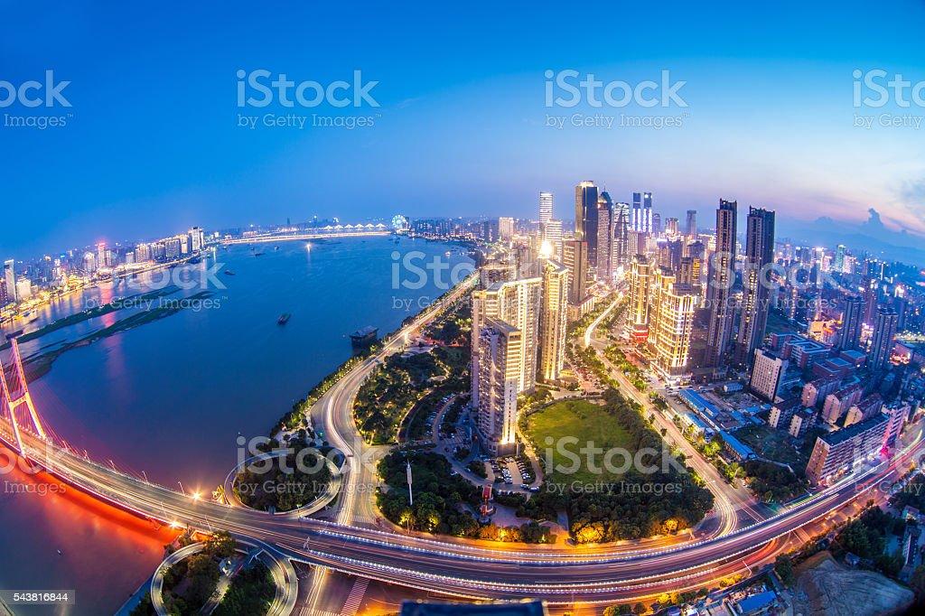 China Shanghai Urban Landscape stock photo
