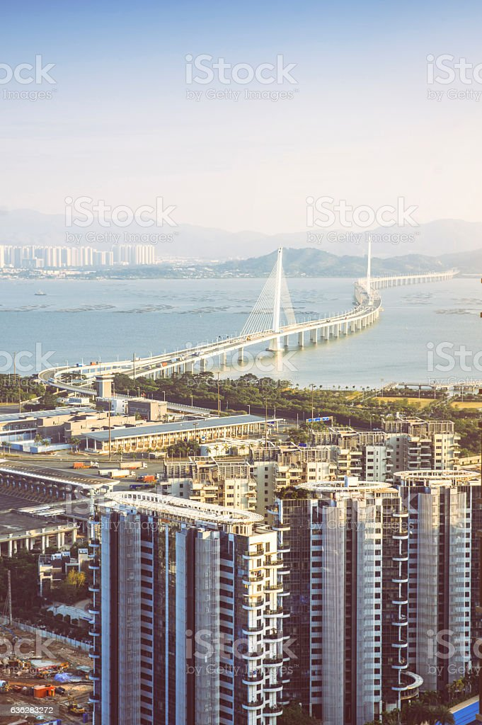 China shenzhen Skyscraper stock photo