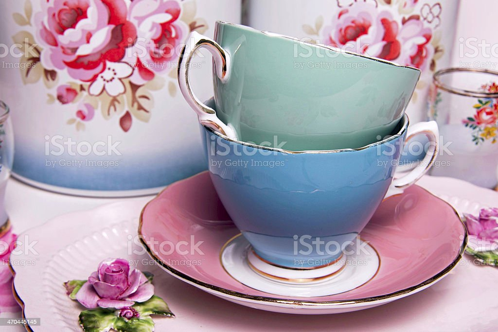China Tea Cup Collection stock photo