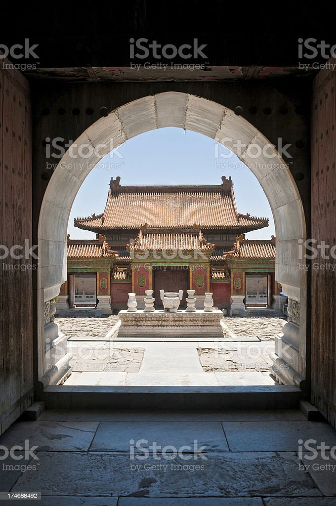 China temple courtyard Hebei royalty-free stock photo