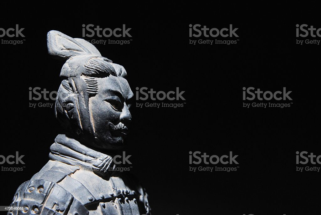China Terracotta Statue Background stock photo