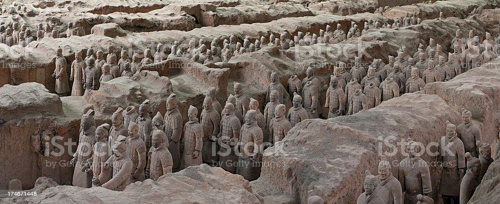 China Terracotta Warriors Xian stock photo