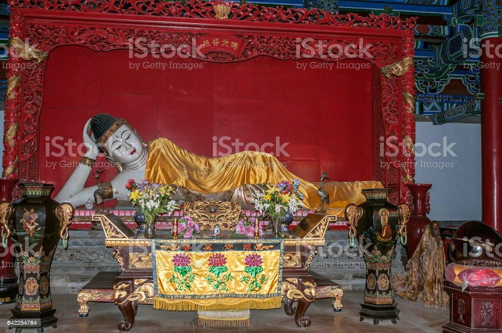 China, the Shaolin Monastery. Hall of scripture stock photo