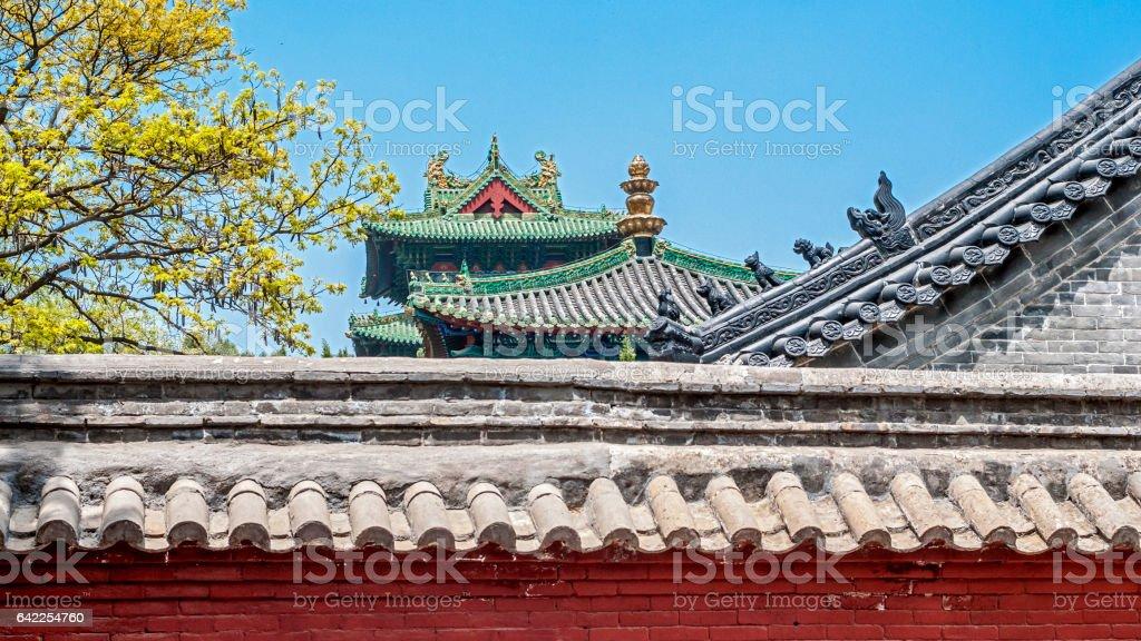 China, the Shaolin Monastery. stock photo
