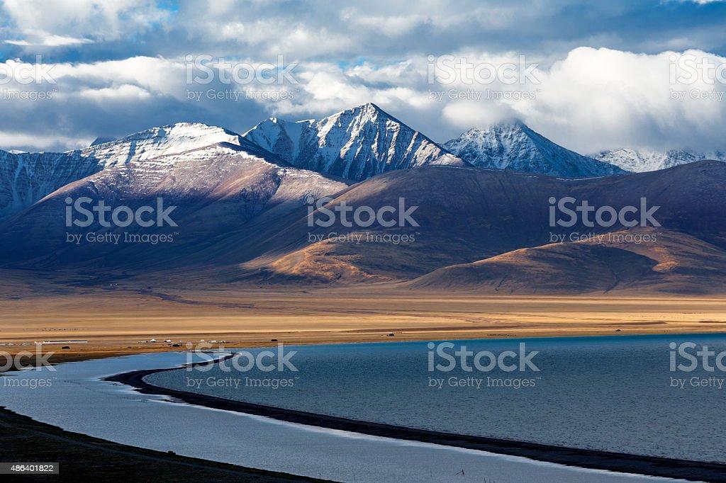 China Tibet Nam Co stock photo