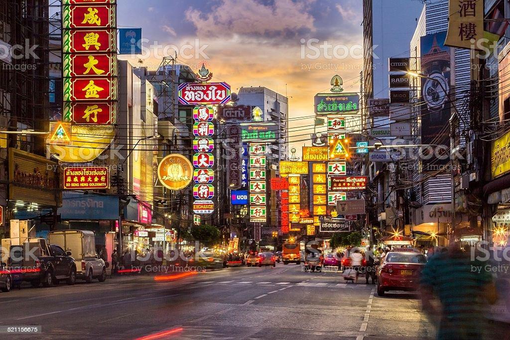 China Town at Yaowarat Road stock photo