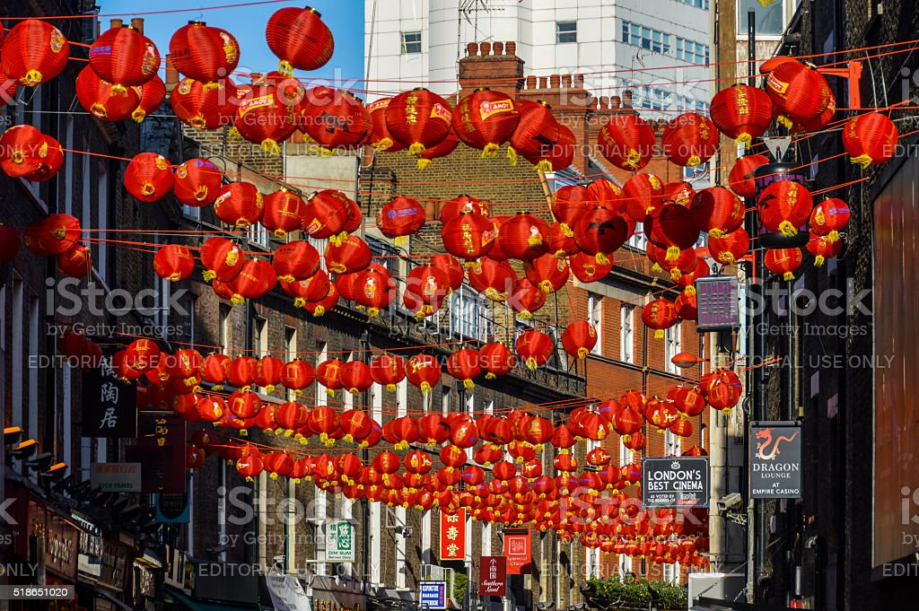 China Town in London, UK stock photo