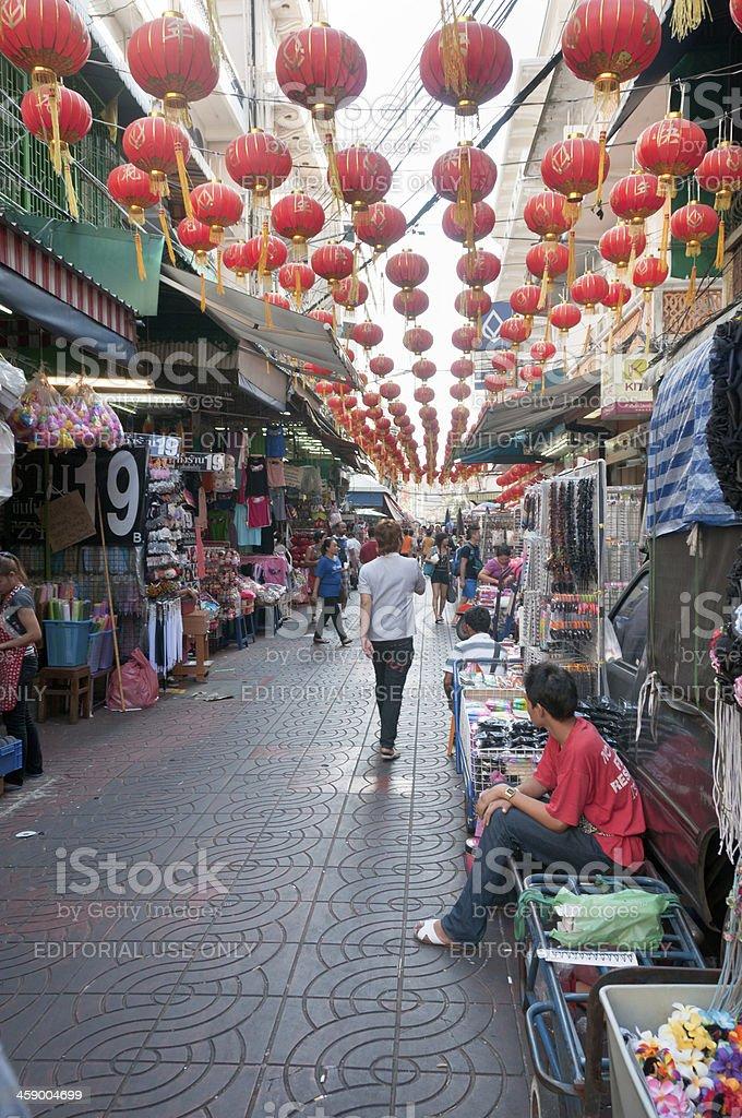 China Town Market In Bangkok, Thailand royalty-free stock photo