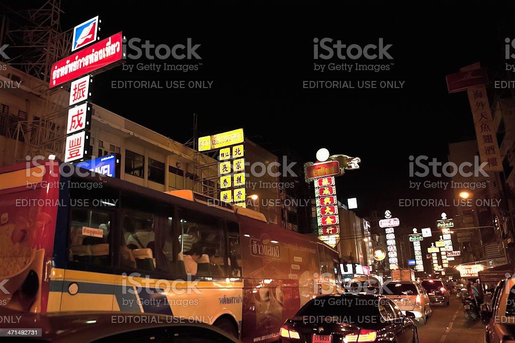China Town Traffic, Bangkok, Thailand royalty-free stock photo