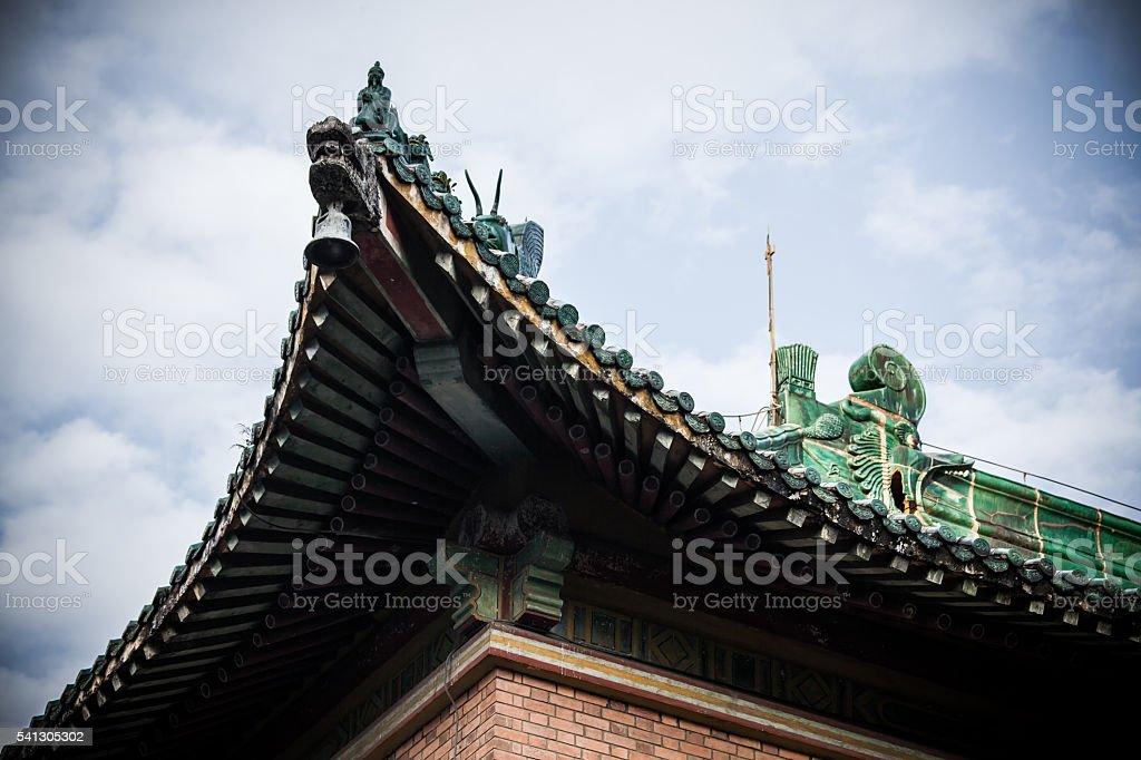 China traditional eaves stock photo